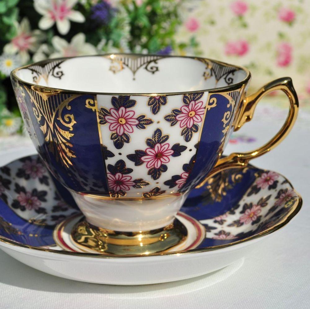 Royal Albert Regency Blue Teacup and Saucer