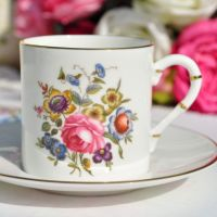 Royal Worcester Posies Coffee Cup and Saucer