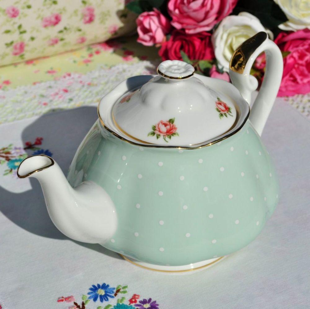 Royal Albert Polka Rose Large Teapot