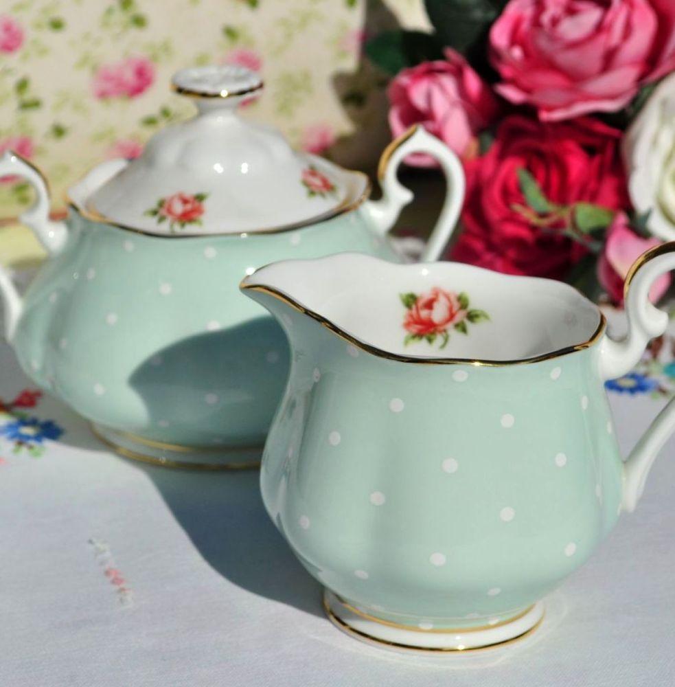 Royal Albert Polka Rose Milk Jug and Sugar Bowl