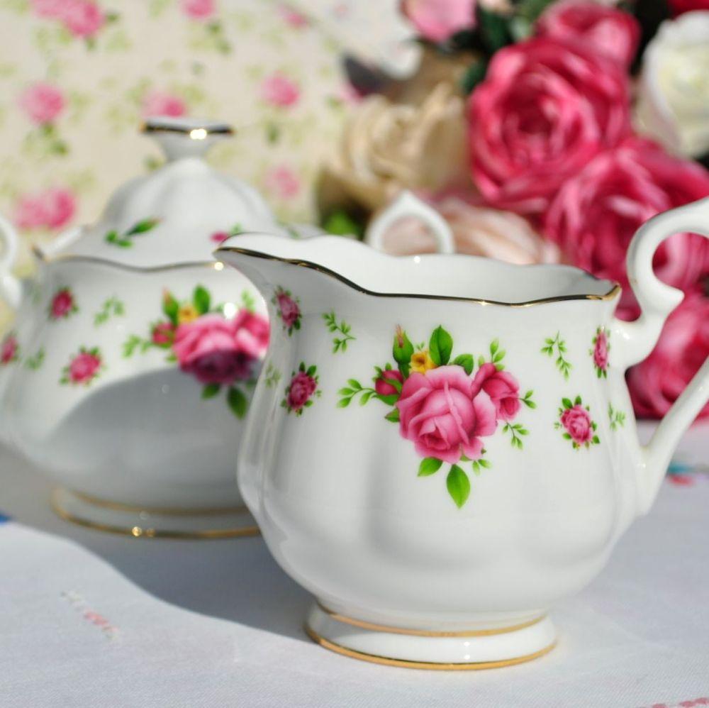 Royal Albert New Country Roses Milk Jug and Sugar Bowl