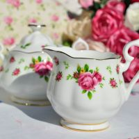 Royal Albert New Country Roses Milk Jug and Sugar Bowl