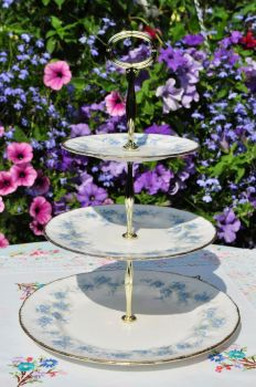 Paragon Forget Me Not 3 Tier Cake Stand