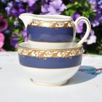Wedgwood Rococo Sugar Bowl and Creamer