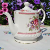 Queen's Richmond Pink Floral 2 Pint Teapot