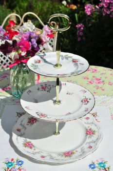 Tranquillity  Traditional 3 Tier Cake Stand