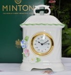 Minton Fife Floral Collection Bone China Clock