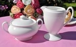 Royal Doulton White Fine Bone China Cream Jug and Sugar Bowl Set B