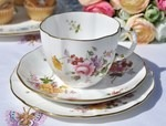 Royal Crown Derby 'Derby Posies' Teacup, Saucer and Tea Plate