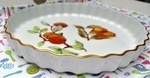 "Evesham Gold Vintage Royal Worcester 10.5"" Apples & Pears Flan Dish"