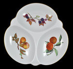 Royal Worcester Vintage Evesham Gold Triple Serving Dish