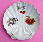 Royal Worcester Vintage Evesham Gold 'Apples' Shell Shaped Dish