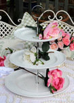 Denby Grace Pure White Fine Bone China Plates Cake Stand  - SOLD OUT
