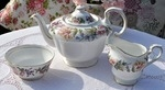Paragon 'Country Lane' Vintage China Teapot, Milk Jug and Sugar Bowl