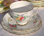 Old Royal Vintage Bone China Blossom Teacup Trio c.1930-41