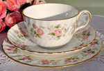 Minton 'Spring Bouquet' Vintage Bone China Teacup Trio