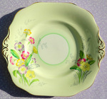 Old Royal Vintage Pale Green Primrose Pattern Cake Plate 1930-41