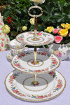 Royal Grafton 'Malvern' Vintage Floral Pattern 3 Tier Cake Stand