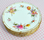 "Royal Crown Derby Posies Rope Edge 7"" Tea Plate c.1948"