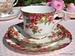 Royal Stafford 'Olde English Garden' Vintage China Trio c.1952