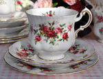 Paragon Minuet Vintage China Teacup, Saucer and Tea Plate Trio