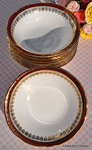 Duchess China Red and Gold Dessert Soup or Cereal Dish