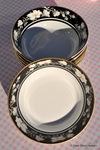 Royal Doulton Vogue Collection Intrigue English Porcelain Vintage Dessert Dishes