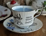 Jasmine Scented Candle Silver Wedding Teacup