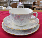 Minton 'Garden Pinks' Vintage China Shabby Chic Teacup Trio c.1948