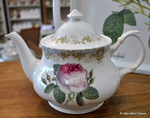 Vintage Rose Large Fine Bone China Teapot