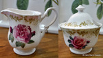 Vintage Rose Fine Bone China Milk Jug and Sugar Bowl
