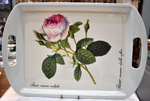 'Redoute Rose' Large Melamine Tea Tray