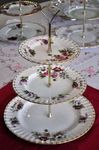 Royal Albert Flower of the Month March Anemones 3 Tier Cake Stand