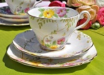 Royal Standard Primroses Hand Painted Teacup Trio c.1949- SOLD OUT