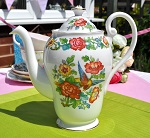 Royal Standard Indian Summer Vintage Fine China Teapot