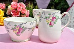 Old Royal Vintage Floral China Milk Jug and Sugar Bowl