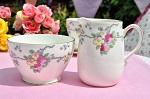Old Royal Vintage Floral China Milk Jug and Sugar Bowl