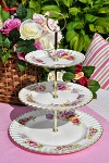 Royal Albert Flower of the Month April Sweet Pea 3 Tier Cake Stand