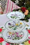 Queen's China RHS Floral 3 Tier Cake Stand