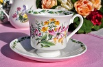 Queen's China RHS Floral Teacup and Saucer