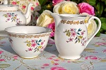 Royal Grafton Vintage Fine China Floral Milk Jug and Sugar Bowl