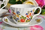 Aynsley Cottage Garden English Fine China Teacup and Saucer