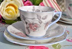 Royal Imperial Pastel Pink Rose and Blue Vintage Teacup Trio