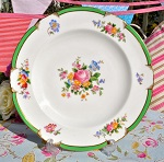 George Jones Antique Crescent China Floral 24.5cm Plate c.1891