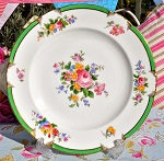 George Jones Antique Crescent China Floral 22.5cm Plate c.1891