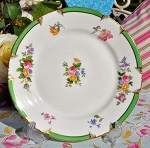 George Jones Antique Crescent China Floral 18cm Plate c.1891