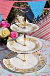 Colclough Hedgerow Vintage China 3 Tier Cake Stand
