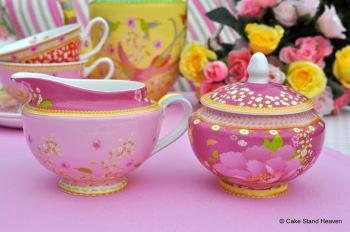 Gabrielle Lidded Sugar Bowl and Milk Jug or Creamer