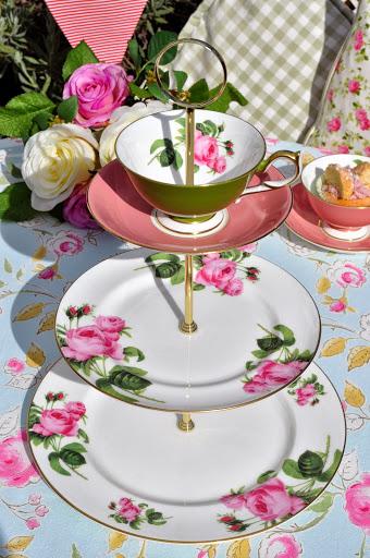 English Rose Afternoon Tea Cupcake Stand