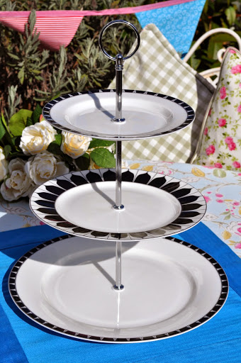 Aynsley Mozart Fine China Three-Tiered Cake Stand